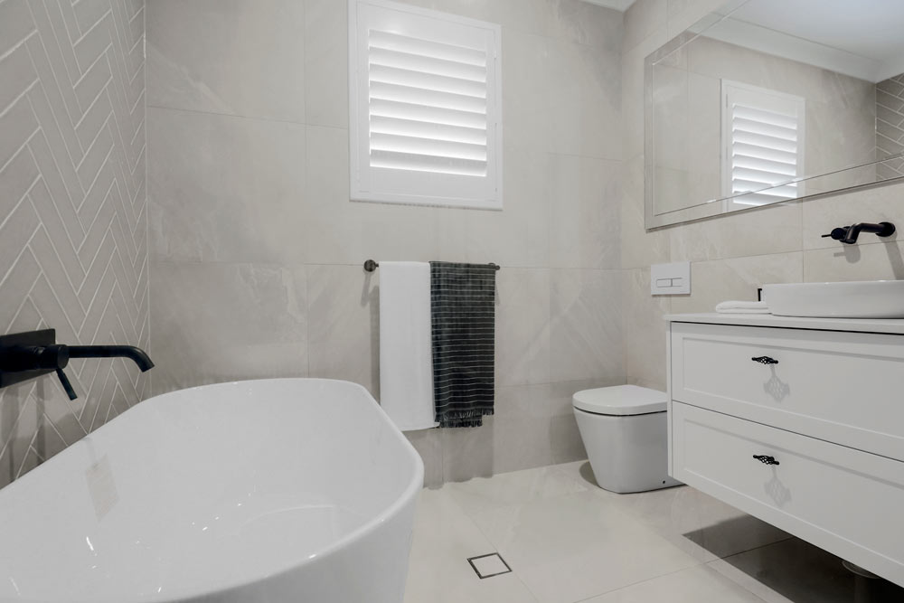 Austral Display Home with Hamptons Style Interiors Bathroom