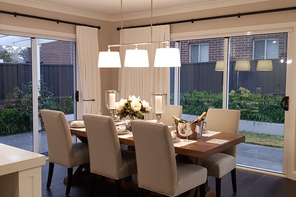 Austral Display Home with Hamptons Style Interiors Dining