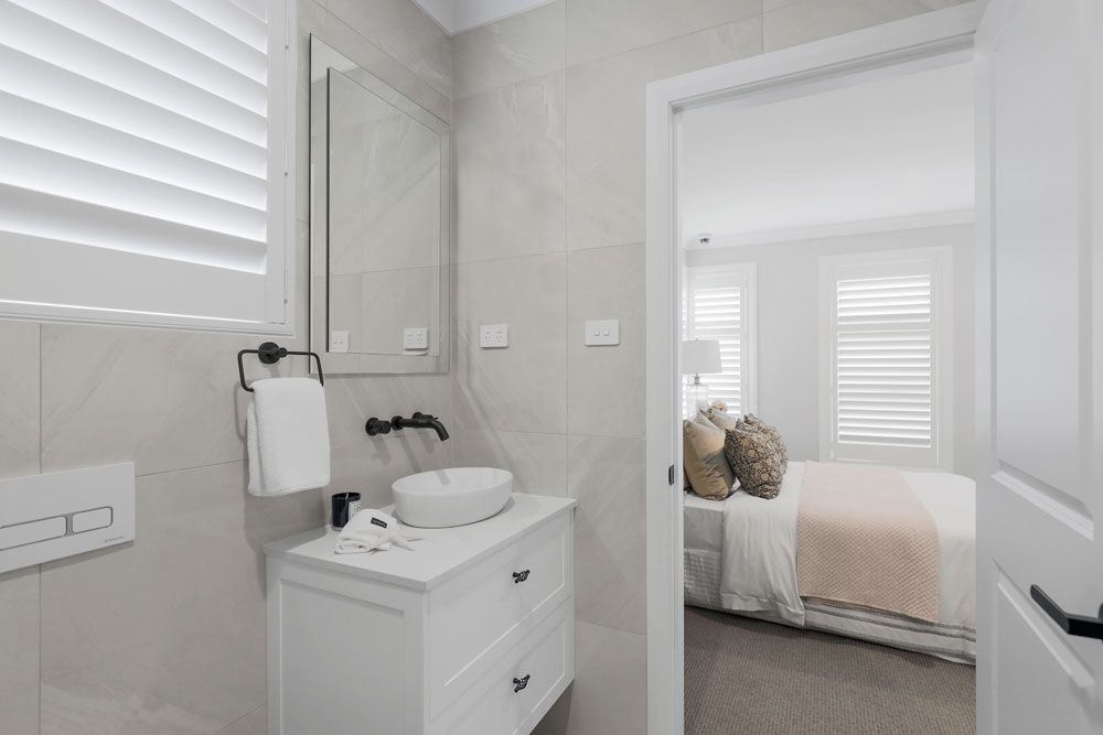 Austral Display Home with Hamptons Style Interiors Ensuite