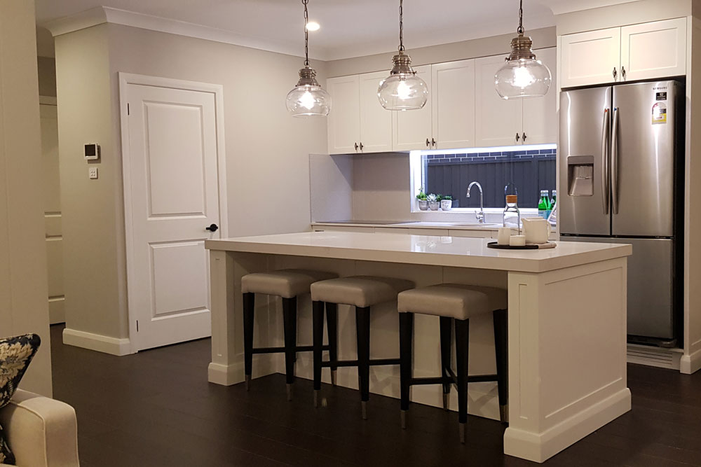 Austral Display Home with Hamptons Style Interiors Kitchen